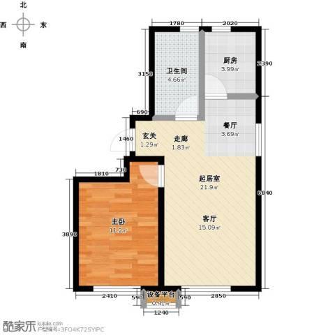 华润凯旋门1室0厅1卫1厨48.00㎡户型图