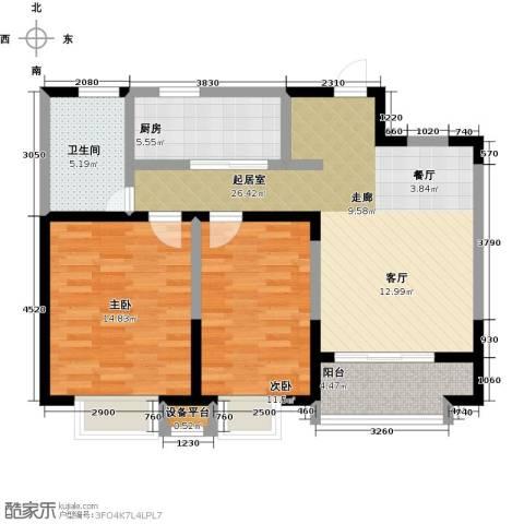 铜冠花园2室0厅1卫1厨100.00㎡户型图