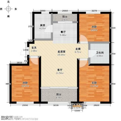 华润凯旋门3室0厅1卫1厨82.00㎡户型图