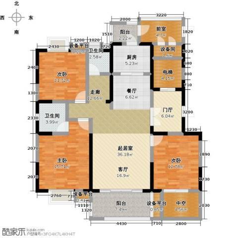 铜冠花园3室0厅2卫1厨178.00㎡户型图
