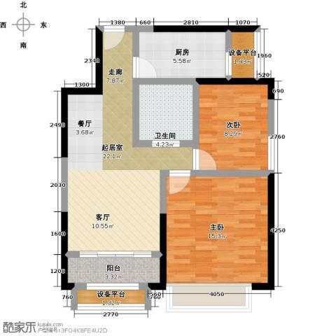蓝光星华・海悦城2室0厅1卫1厨73.00㎡户型图