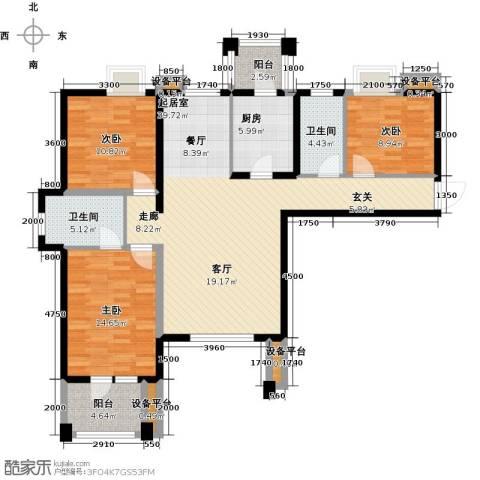 阳光新业国际3室0厅2卫1厨133.00㎡户型图
