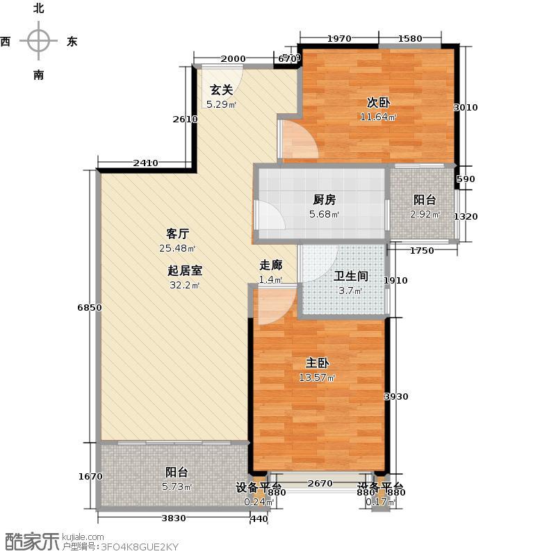 合生上观国际82平米两房户型