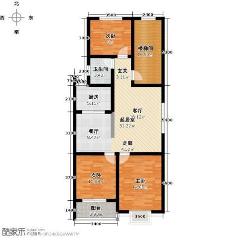 丽景华庭3室0厅1卫1厨129.00㎡户型图