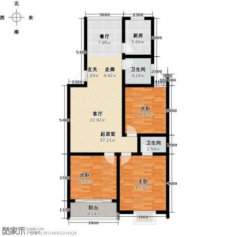 丽景华庭3室0厅2卫1厨135.00㎡户型图