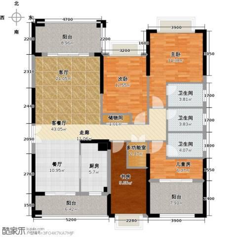 龙光・水悦龙湾4室1厅3卫1厨166.00㎡户型图