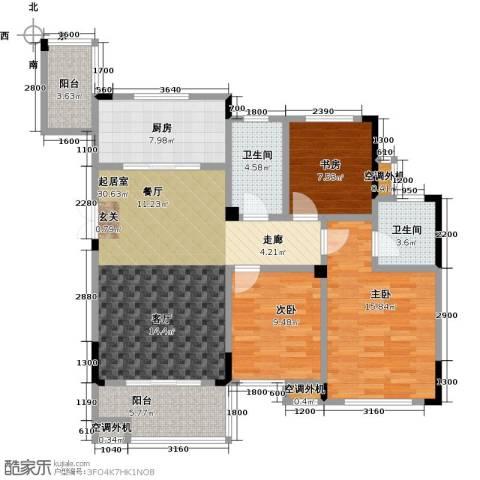 佳源城市花园3室0厅2卫1厨129.00㎡户型图