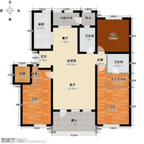 辰能溪树河谷3室0厅2卫1厨197.00㎡户型图