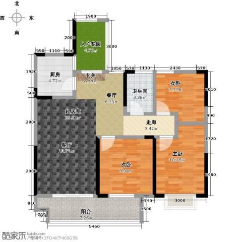 佳源城市花园3室0厅1卫1厨110.00㎡户型图