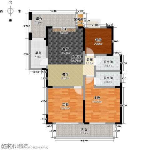 佳源城市花园3室0厅2卫1厨127.00㎡户型图