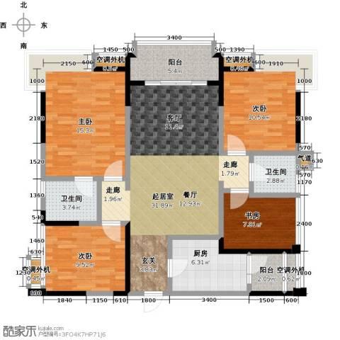 保利锦湖林语4室0厅2卫1厨113.00㎡户型图