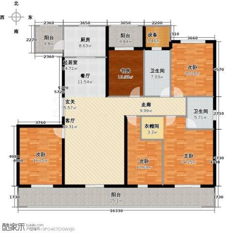 南阳建业凯旋广场5室0厅2卫1厨269.00㎡户型图