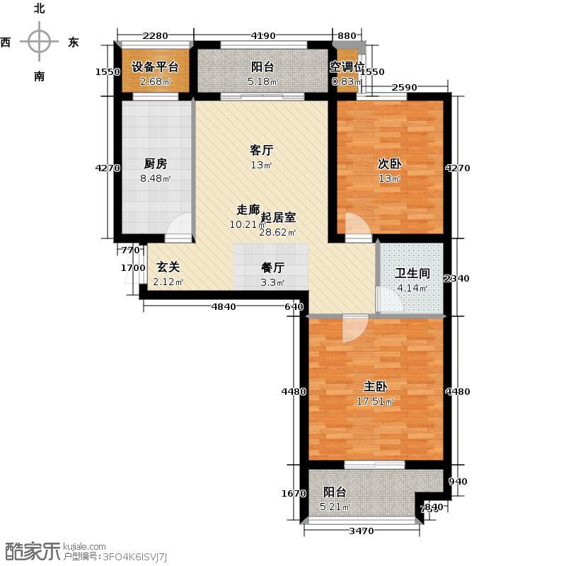 温莎花园君悦华府 户型图 loft户型2室2厅1卫