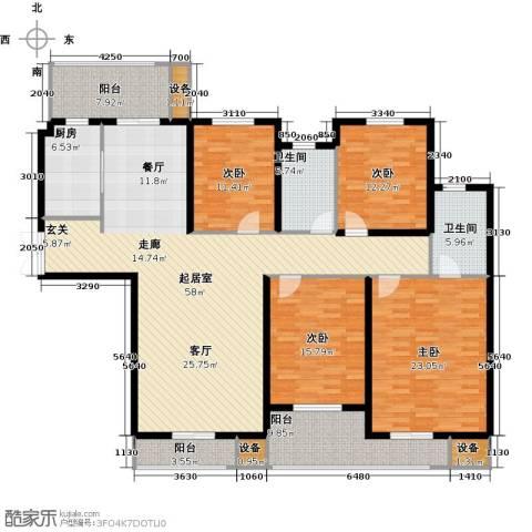南阳建业凯旋广场4室0厅2卫1厨219.00㎡户型图
