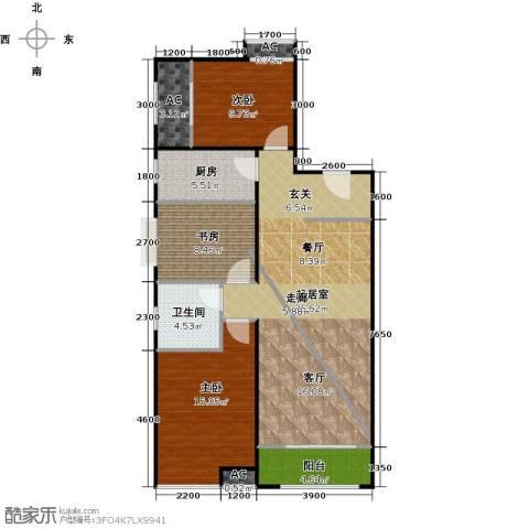 铂悦山3室0厅1卫1厨114.00㎡户型图