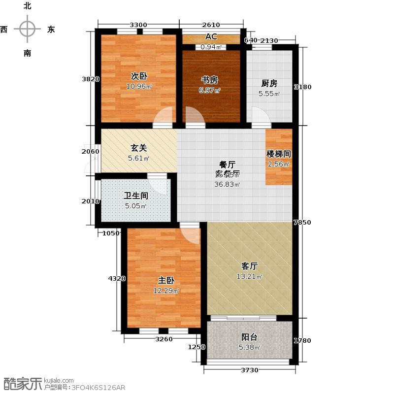 新汇育才华都户型3室1厅1卫1厨