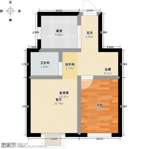 东方嘉苑二期1室0厅1卫1厨53.00㎡户型图