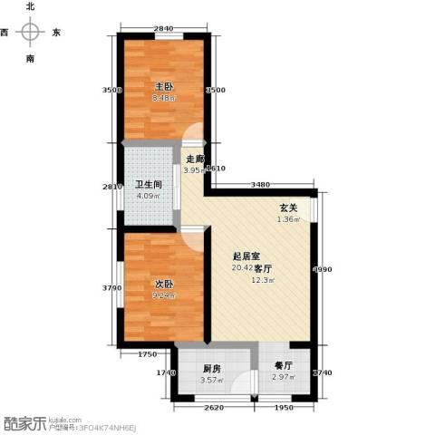 东方嘉苑二期2室0厅1卫1厨69.00㎡户型图