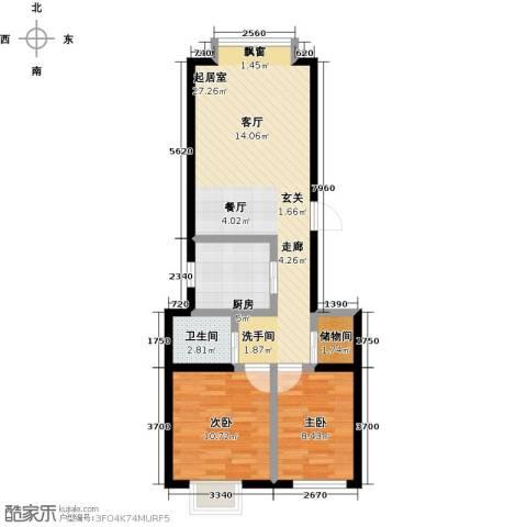 东方嘉苑二期2室0厅1卫1厨83.00㎡户型图