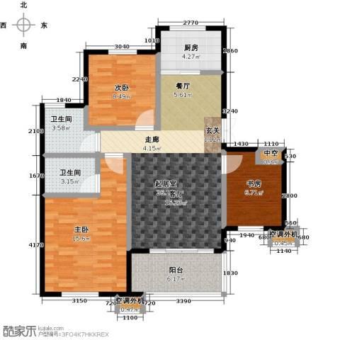 佳源城市花园3室0厅2卫1厨108.00㎡户型图