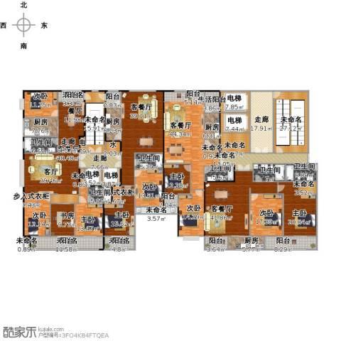 省农业厅宿舍9室4厅6卫4厨724.00㎡户型图