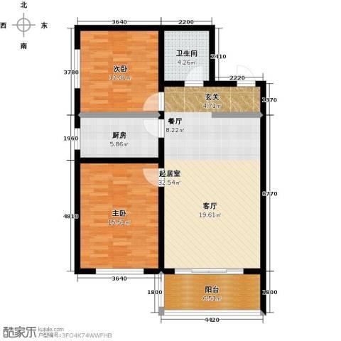 邢台玫瑰镇2室0厅1卫1厨88.00㎡户型图