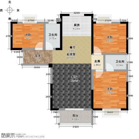 佳源城市花园3室0厅2卫0厨116.00㎡户型图