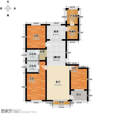 邢台玫瑰镇3室0厅2卫1厨137.00㎡户型图