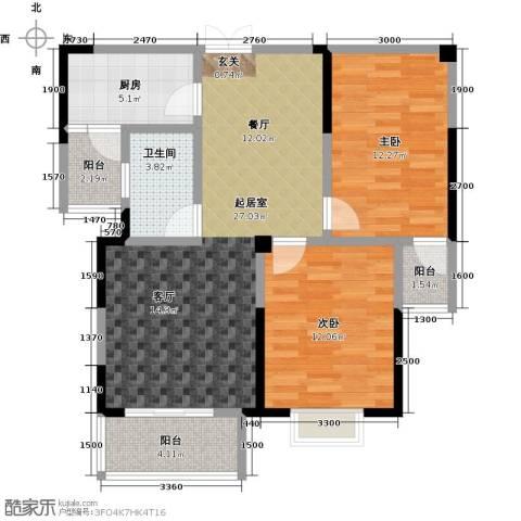 佳源城市花园2室0厅1卫1厨97.00㎡户型图