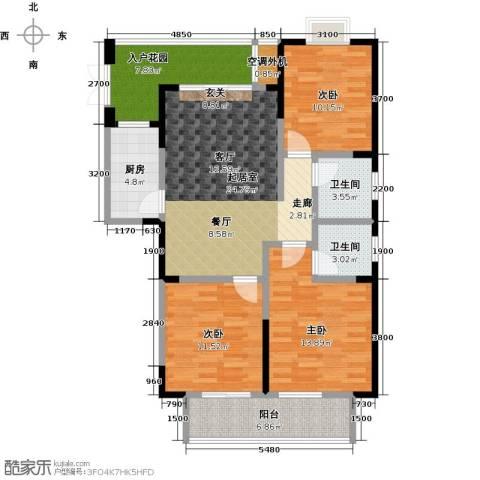 佳源城市花园3室0厅2卫1厨125.00㎡户型图