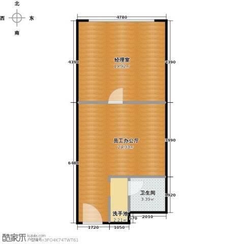 百悦 梧桐中心1卫0厨52.00㎡户型图