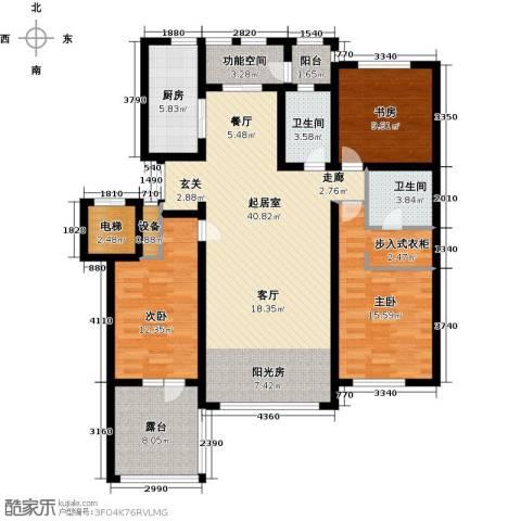 辰能溪树河谷3室0厅2卫1厨156.00㎡户型图