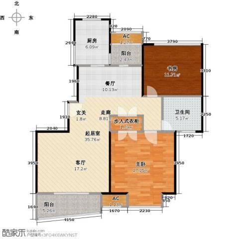 大唐盛世花园三期2室0厅1卫1厨90.00㎡户型图