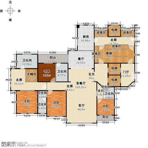 泰成壹号公馆4室1厅6卫1厨452.00㎡户型图