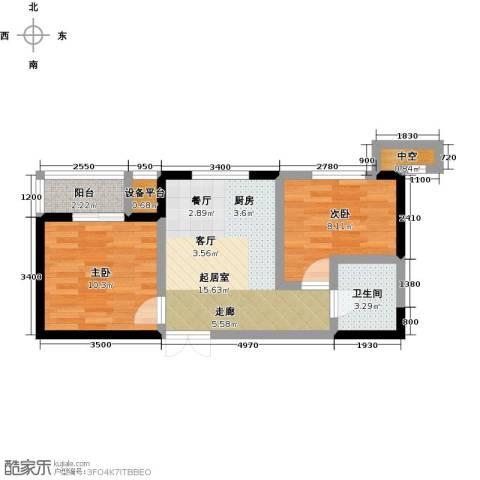 协众水岸风华2室0厅1卫0厨62.00㎡户型图