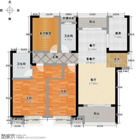 天鸿・尹山湖韵佳苑2室1厅2卫1厨159.00㎡户型图