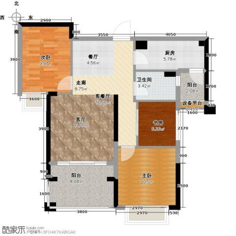 龙光・水悦龙湾3室1厅1卫1厨94.00㎡户型图