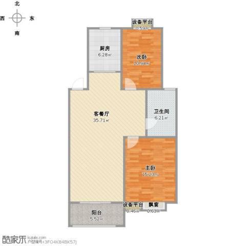 垠领城市街区2室1厅1卫1厨109.00㎡户型图