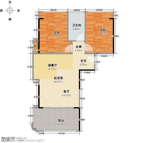 宝安虹海湾2室0厅1卫0厨78.00㎡户型图