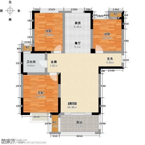 三金燕语庭3室0厅1卫0厨104.00㎡户型图