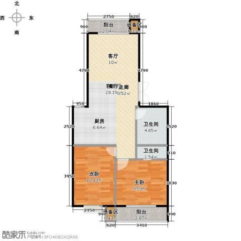 昊业・紫御府2室1厅2卫0厨94.00㎡户型图