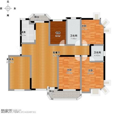 东方丽都花苑4室1厅2卫1厨196.00㎡户型图