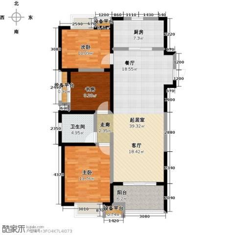 铜冠花园3室0厅1卫1厨133.00㎡户型图