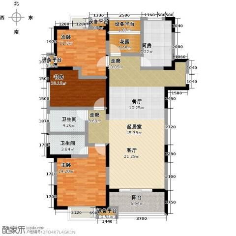 铜冠花园3室0厅2卫1厨158.00㎡户型图