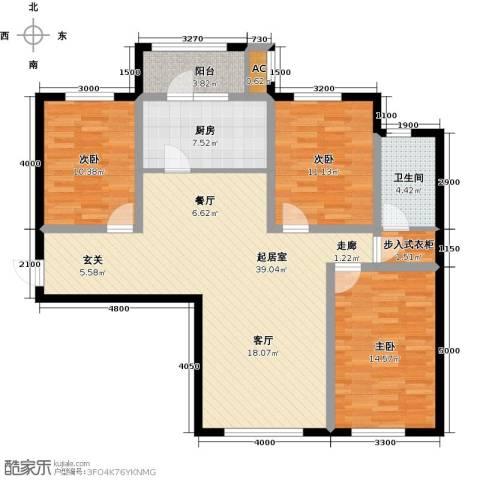 富力城3室0厅1卫1厨127.00㎡户型图