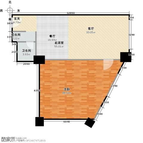 百悦 梧桐中心1室0厅1卫0厨114.00㎡户型图