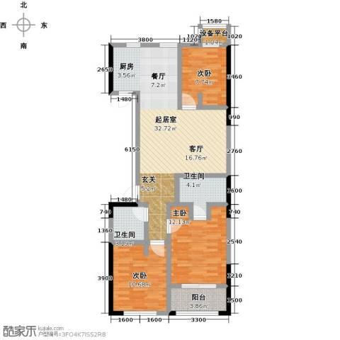 协众水岸风华3室0厅2卫0厨111.00㎡户型图
