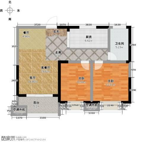 天鸿・尹山湖韵佳苑2室1厅1卫1厨101.00㎡户型图
