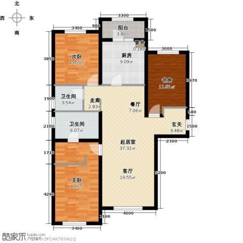 富力城3室0厅2卫1厨140.00㎡户型图