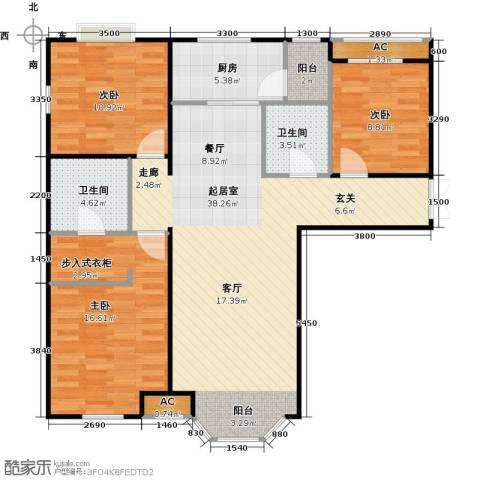 首创・伊林郡3室0厅2卫1厨119.00㎡户型图